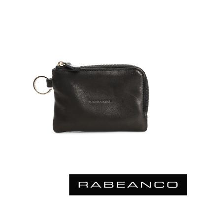 RABEANCO 經典小羊皮萬用鑰匙零錢包 – 鋼琴黑