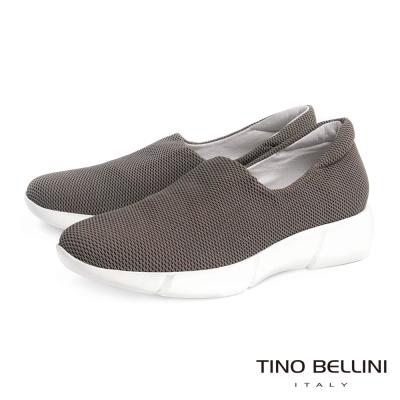 Tino Bellini 時尚休閒風網眼厚底休閒鞋_灰