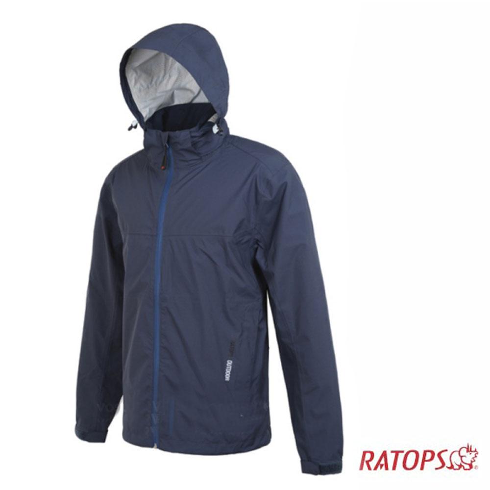 【瑞多仕】男款 2.5 layer 防水透濕夾克_RAW104 灰藍色 V1