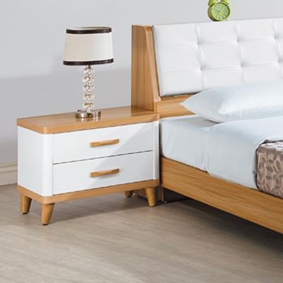 品家居 寶萊雙色二抽床頭櫃-55x40x48cm-免組