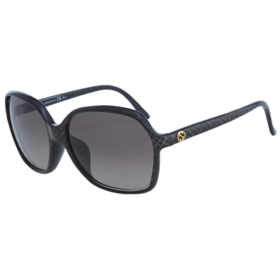 GUCCI-時尚太陽眼鏡(黑色/琥珀)