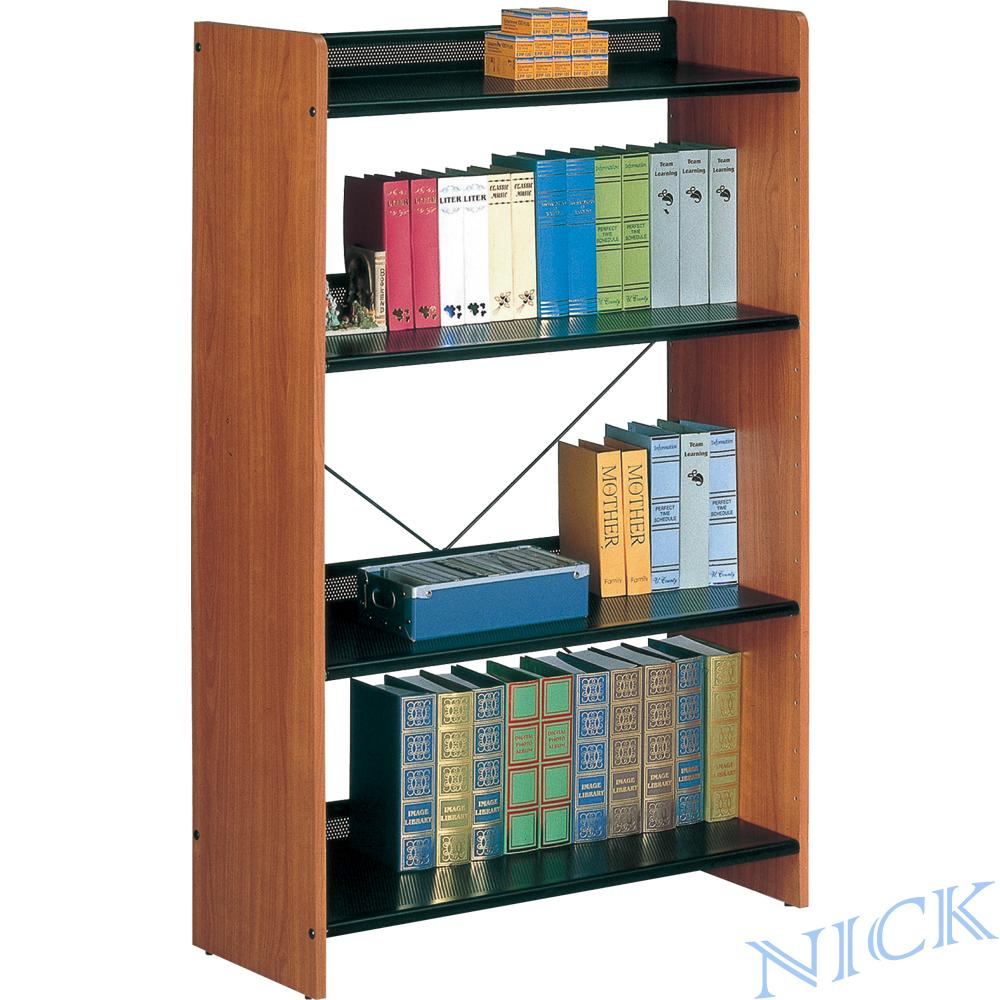 【NICK】實木貼皮木製書架(78.6 × 30)_四層