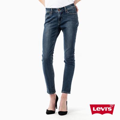 Revel-中腰緊身水洗窄管丹寧牛仔褲-湛藍-Le