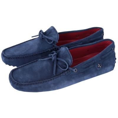TOD'S FOR FERRARI GOMMINO 麂皮豆豆休閒鞋(藍色)