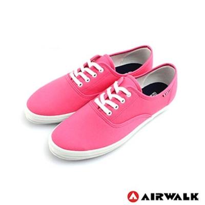 【美國 AIRWALK】繽紛一夏甜心女孩帆布鞋-女(亮麗桃)