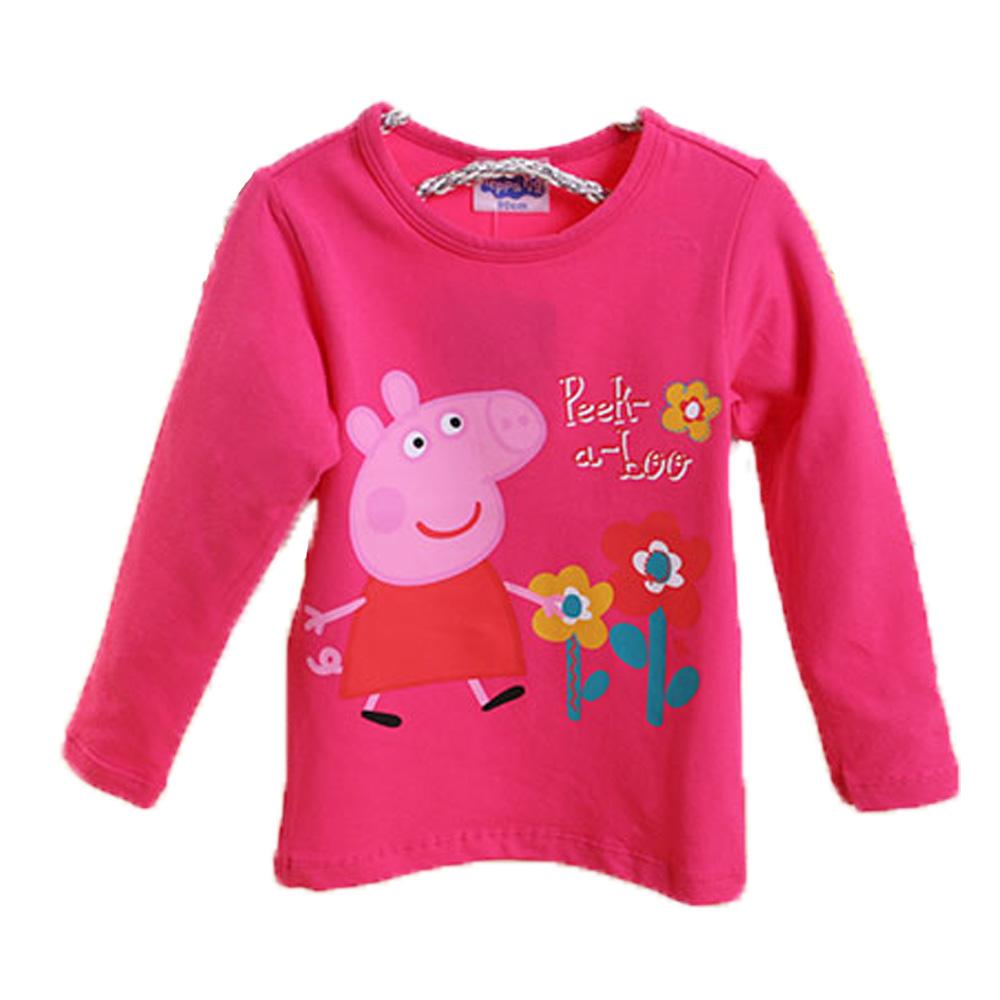 粉紅豬小妹彈性長袖T恤 桃紅 k60314