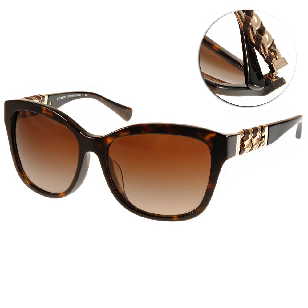 COACH太陽眼鏡 貓眼鎖鏈款/琥珀棕-金#COS8156QF 512013 @ Y!購物