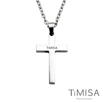 TiMISA《簡約十字(L)》純鈦項鍊