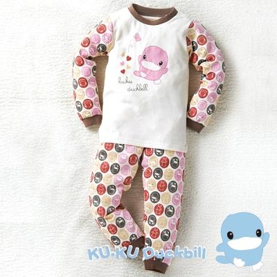 KU.KU酷咕鴨-秋冬有機棉泡泡套裝-粉