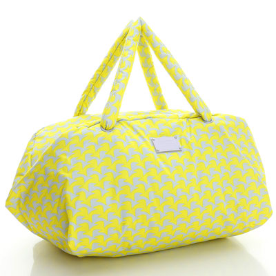 VOVAROVA空氣包-週末旅行袋-千鳥飛飛(黃)-法國設計系列