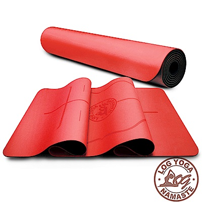 LOG YOGA 樂格 PU環保天然橡膠 專業款瑜珈墊 -大紅 (厚度5mm)