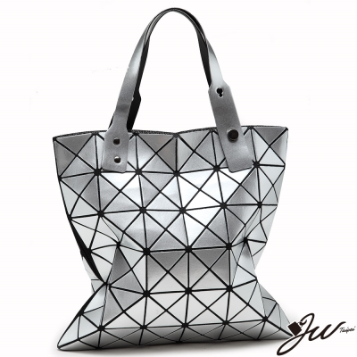 JW魔幻金屬未來感幾何拼貼變形包-共4色-星光銀