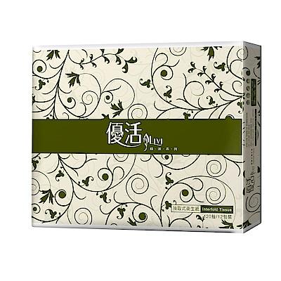 Livi 優活 抽取式衛生紙120抽12包6袋 -箱