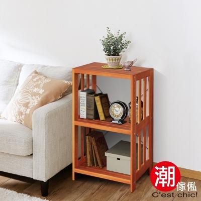 Cest Chic-原木物語5508實木三層收納架 W58.5*D35*H80cm