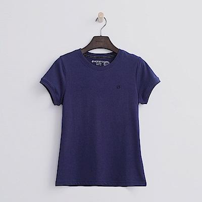 Hang Ten - 女裝 - 有機棉 圓領多彩T恤-藍紫色