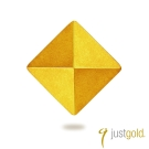 鎮金店Just Gold 黃金單耳耳環 搖滾鉚釘(純金大)
