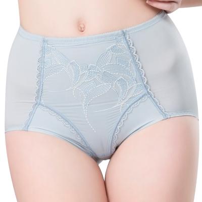 思薇爾 羽霓精靈系列M-XXL蕾絲刺繡高腰三角修飾褲(星晨灰)