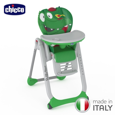 chicco-Polly 2 Start多功能成長高腳餐椅-鱷魚先生