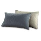 精靈工廠 雙色幸運草系列防潑水舖棉枕套二入-淺灰+鐵灰