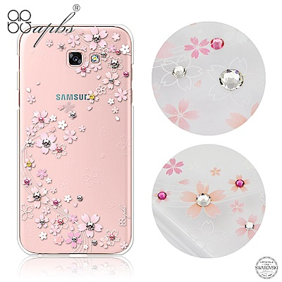 apbs Samsung A、J、C系列 施華洛世奇彩鑽手機殼-天籟之櫻