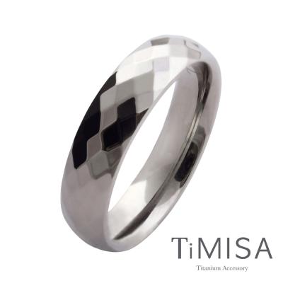 TiMISA《格緻真愛-寬版》純鈦戒指