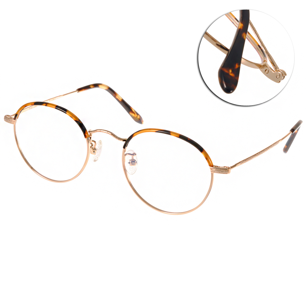 NINE ACCORD眼鏡 文青圓框/玳瑁-金#NICRO TH1 C01