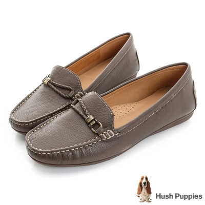Hush Puppies RENITA 編織皮繩樂福鞋-巧克力色