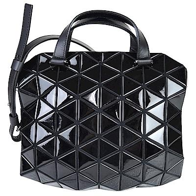 SSEY MIYAKE 三宅一生BAOBAO幾何方格兩用小波士頓包(黑)