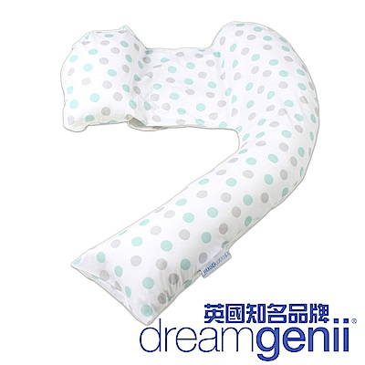 英國 Dreamgenii 多功能孕婦枕 (綠灰點點)