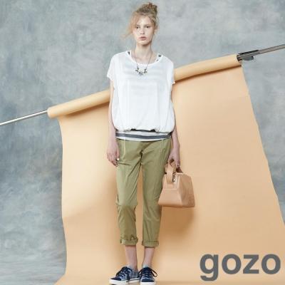gozo-個性感立體摺線造型長褲-三色