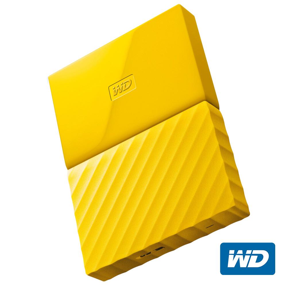 WD My Passport 2TB 2.5吋行動硬碟(黃色/薄型)