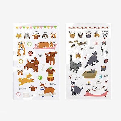 Dailylike 日日美好手帳貼紙組-0708 貓貓與狗
