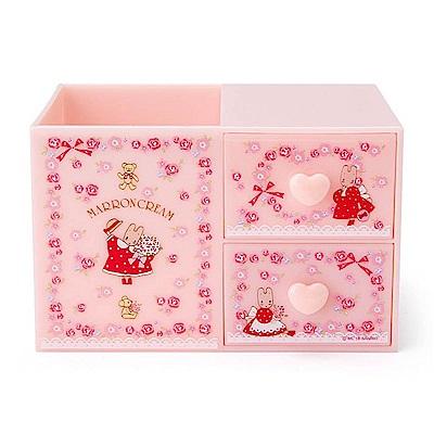 Sanrio 兔媽媽桌上型ABS塑膠筆筒與置物盒(玫瑰園)
