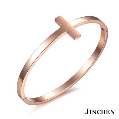 JINCHEN 白鋼十字架手環