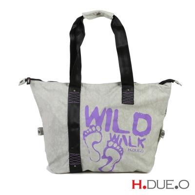 【義大利H.DUE.O】野外足跡手提肩背包(小) - 繽紛紫