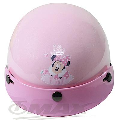 米妮與小熊兒童機車安全帽-粉紅色