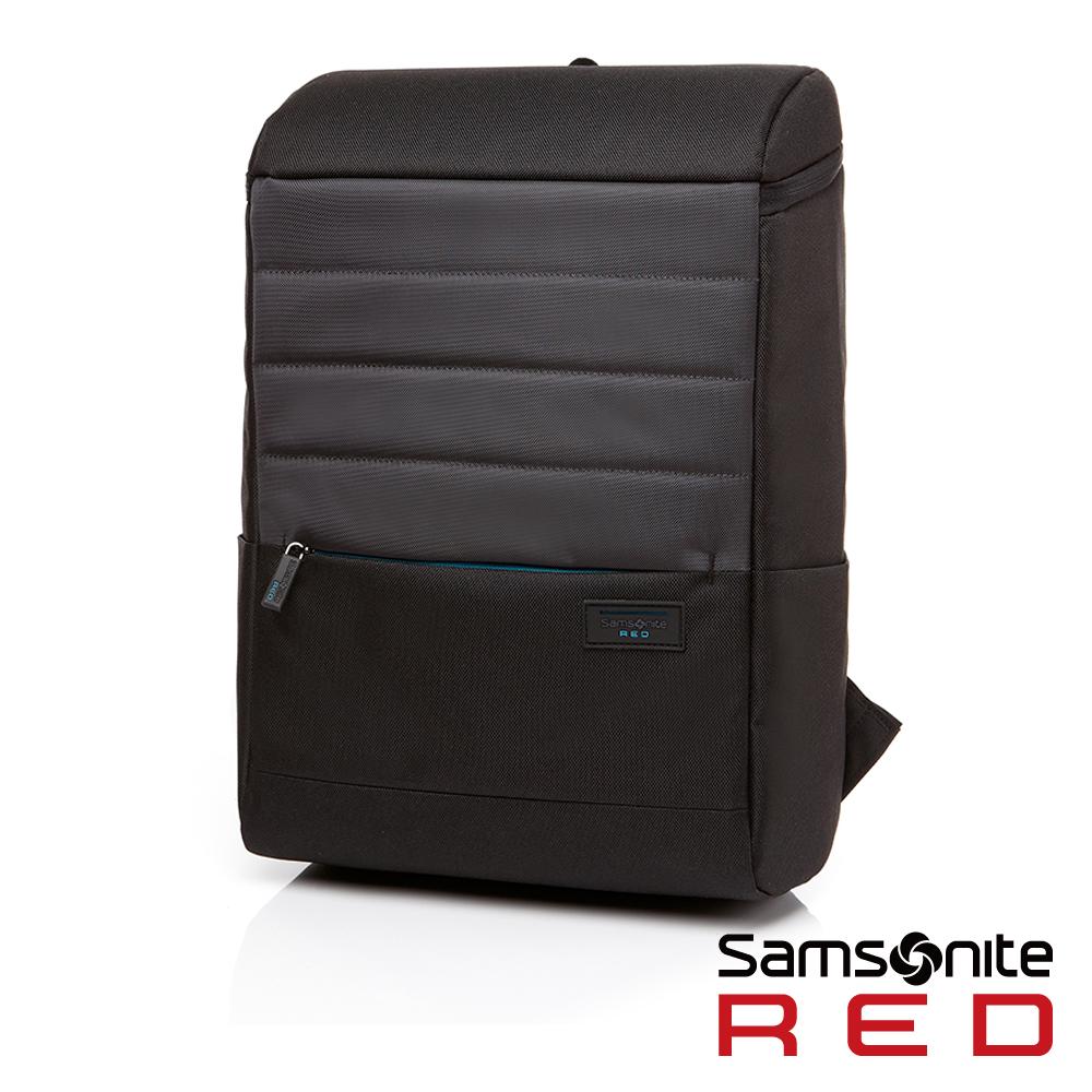 Samsonite RED CLAYTTON 簡約大容量中性筆電後背太空包-14吋(灰)