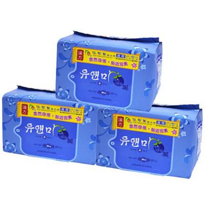 悠安美漢方衛生棉夜用30cm-(20片×3入裝)