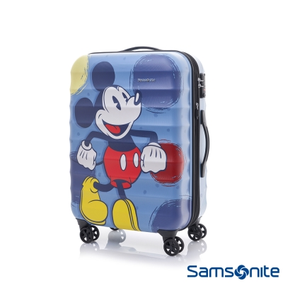 Samsonite新秀麗-Diseny-米奇聯名款24吋TSA-防刮可擴充行李箱-霧面藍
