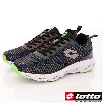 Lotto樂得-反光風洞跑鞋-RSI246藍(男段)