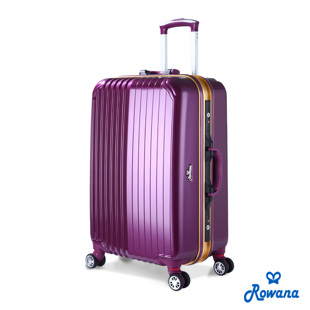 Arowana 金燦炫光PC鏡面鋁框行李箱 25吋(魅惑紫)