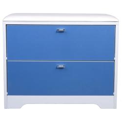 【悅家居】雙門換鞋凳-藍