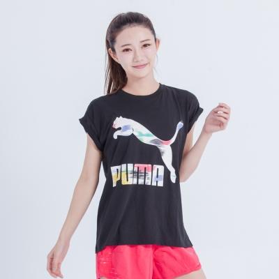 PUMA-彪馬-奧運風短袖T恤-女-5713523