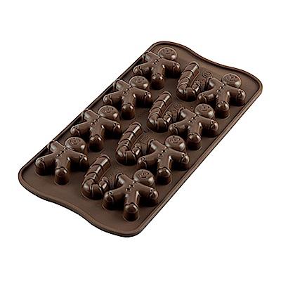 義大利製SiliKoMart巧克力/果凍/冰塊模具(薑餅先生)