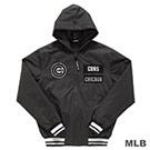 MLB-芝加哥小熊隊鋪棉風衣連帽合身棒球外套-深灰 (男)