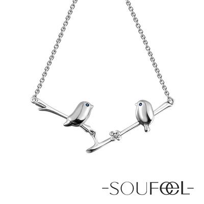 SOUFEEL索菲爾 925純銀項鍊 相思鳥