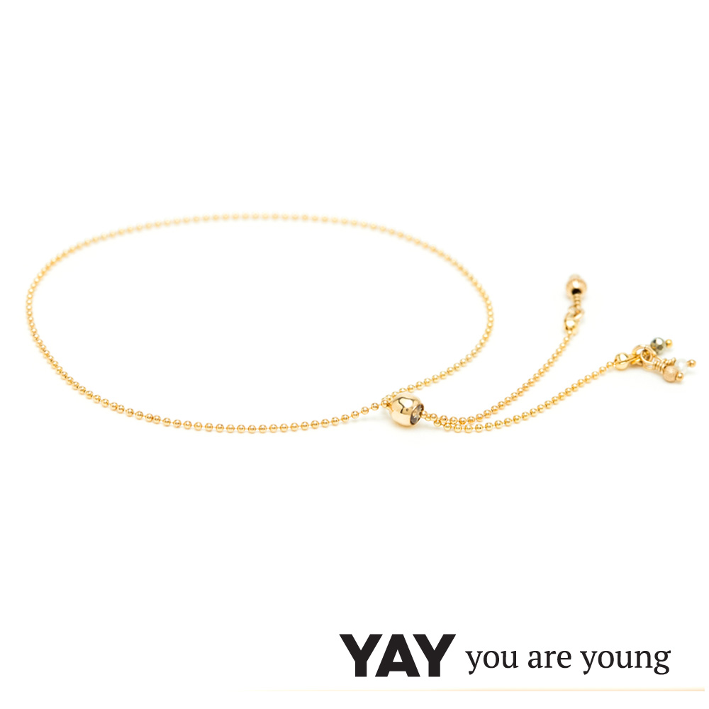 YAY You Are Young 法國品牌 Frida 寶石花束手鍊 白珍珠X星辰豆豆