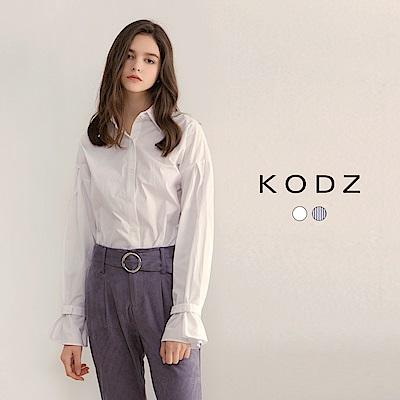 東京著衣-KODZ 雜誌款率性自然貝殼釦設計襯衫-S.M.L(共二色)