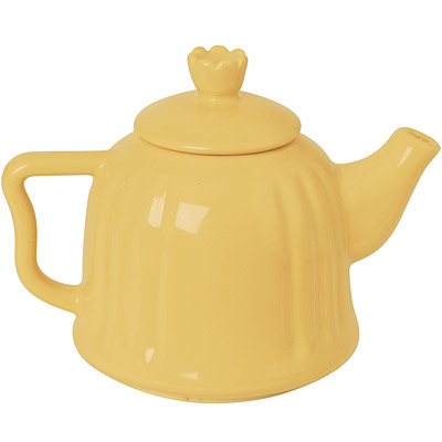 EXCELSA Chic陶製茶壺(奶油黃0.6L)