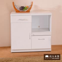 日本直人木業-LIFE自然生活 82CM廚櫃-80x40x82cm高-免組